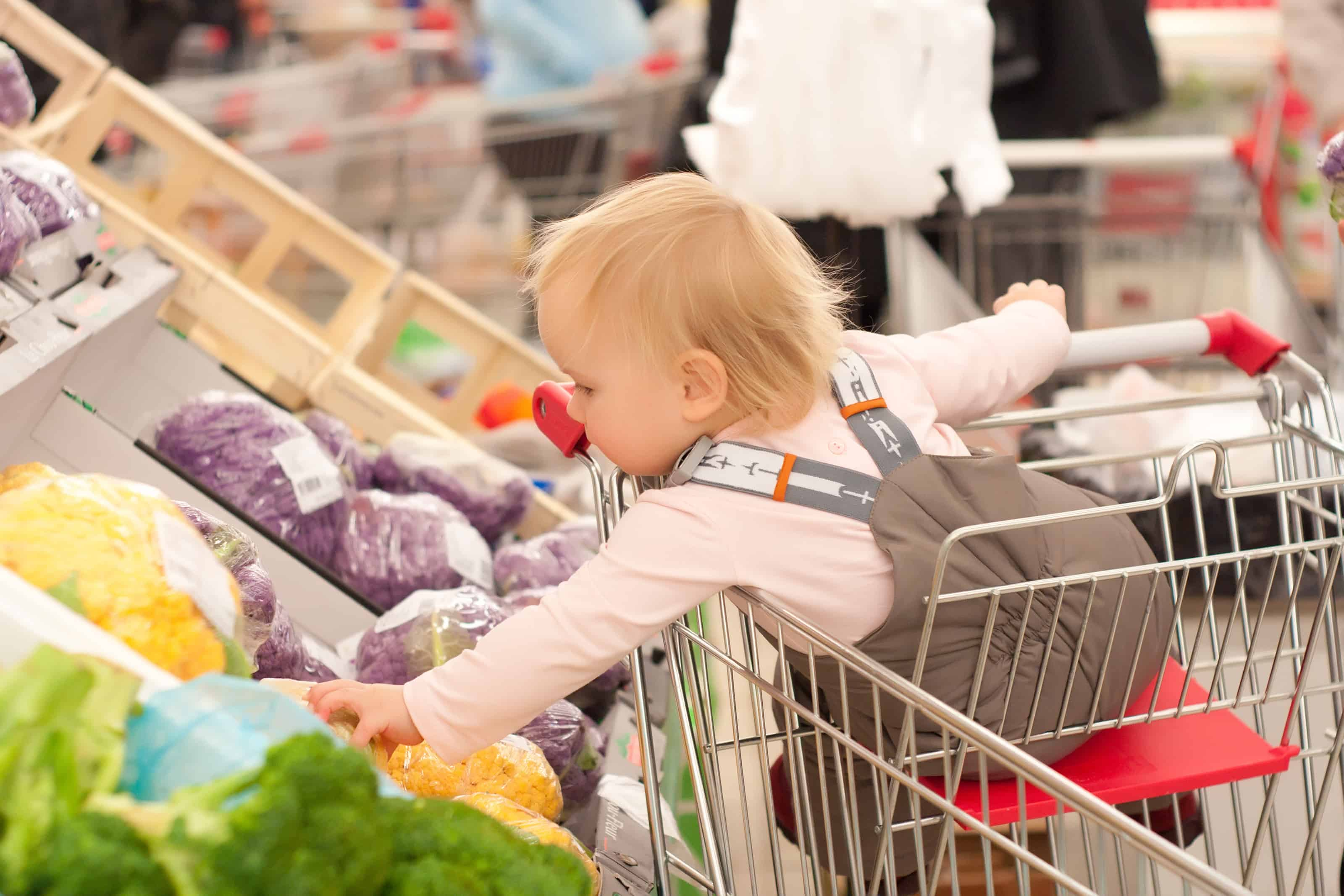 Shopping with little ones can be extremely challenging. When you can't do it online, sometimes you have to suck it up and just take the kids with you. And when you do, you'll want to keep these humorous (and useful) tips in mind. #shoppingwithkidshumor #parentinghumor #shoppingwithbaby #mommycribnotes