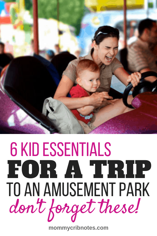 Going to an amusement park, water park or the zoo? Don't forget to pack these must-haves to make a day trip with your toddler or preschooler that much better. #activitiesforkids #activitiesfortoddlers #mommycribnotes