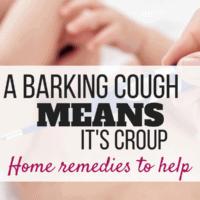 barking cough croup