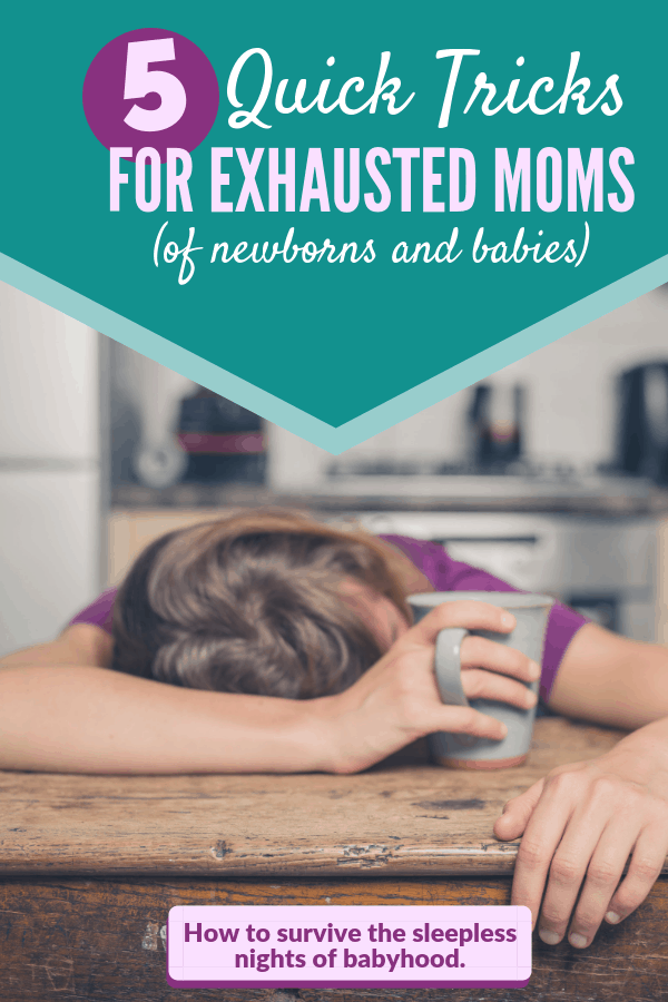 New Moms: Feeling exhausted from all those night feedings? Learn five mood boosters that will help you survive the newborn months and beyond. #lifewithanewborn #momtricks #momlife #lifehacks #mommycribnotes