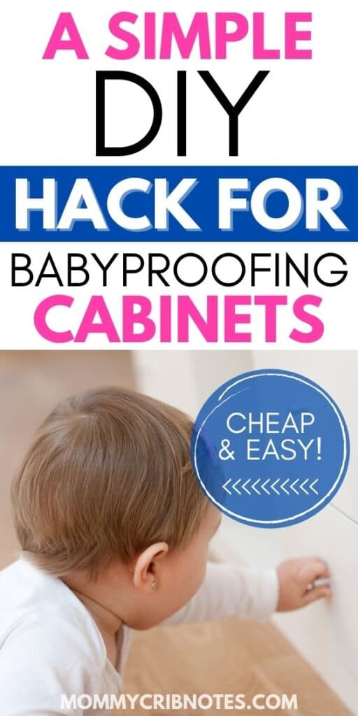 cheap and easy DIY Babyproofing hack for cabinets