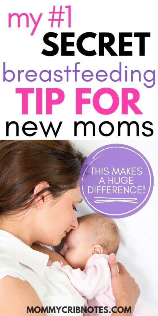 secret breastfeeding tip for new moms